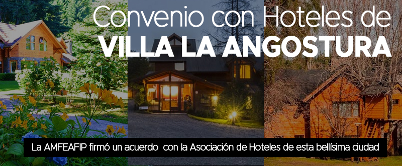 Convenio con Hoteles de Villa La Angostura