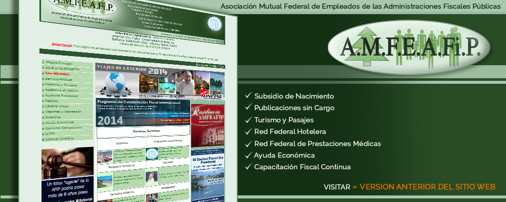 Version Anterior Sitio Web AMFEAFiP