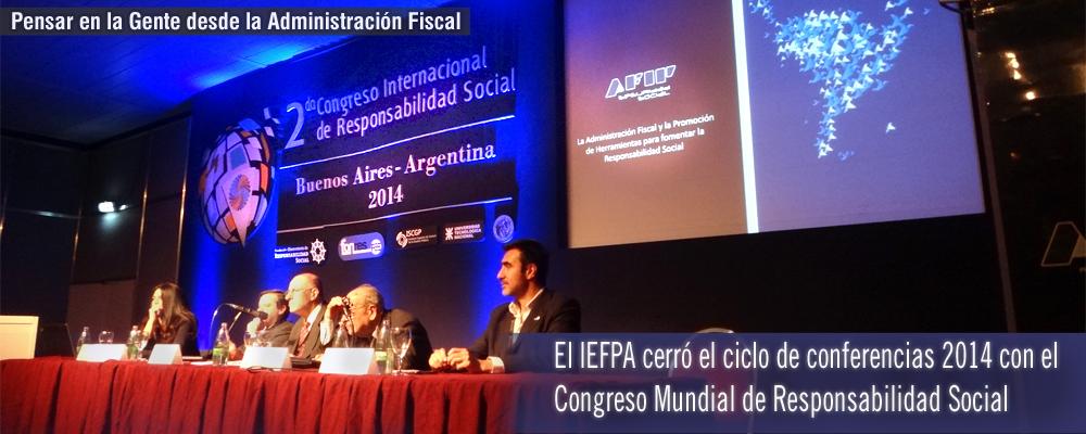 El IEFPA cerró el ciclo de conferencias 2014 con el Congreso Mundial de Responsabilidad Social