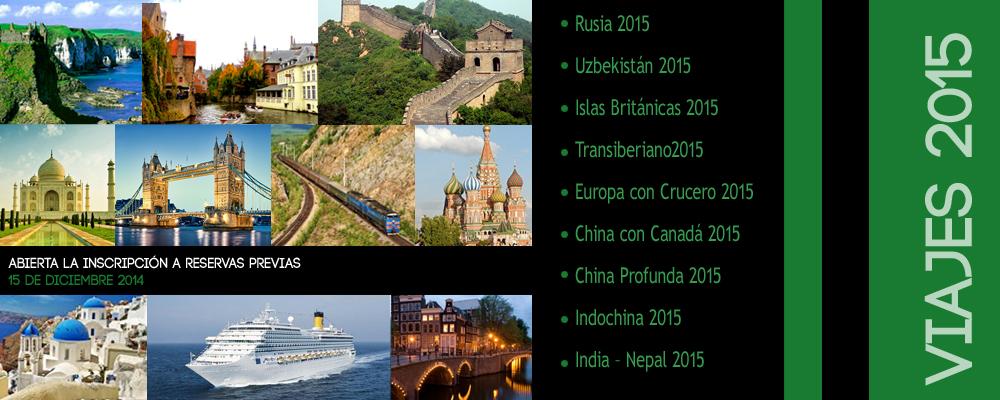 Viajes al exterior 2015