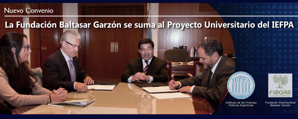 Nuevo convenio con la Fundación Baltasar Garzón