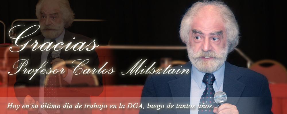 Gracias Carlos Milsztain