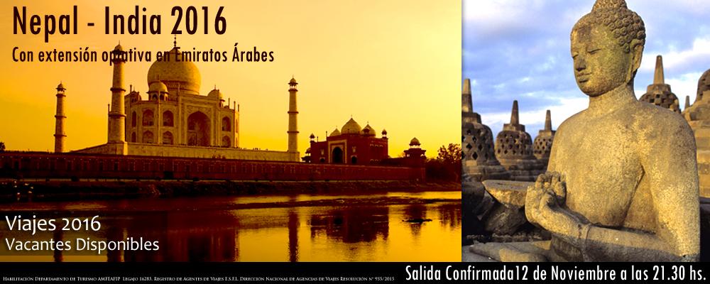 VIAJES 2016 -  Nepal India 2016