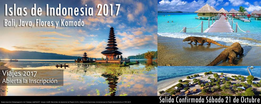 Islas de Indonesia 2017 Única Salida