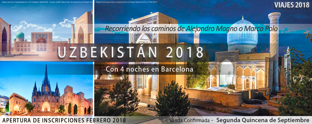 VIAJES 2018 -  Uzbekistan 2018