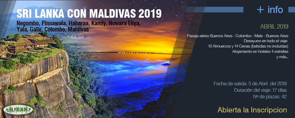 Sri Lanka con Maldivas 2019