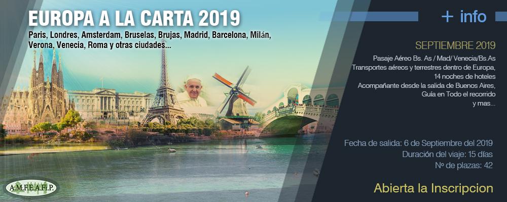 EUROPA A LA CARTA 2019