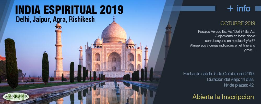 VIAJES 2019 - India Espiritual 2019