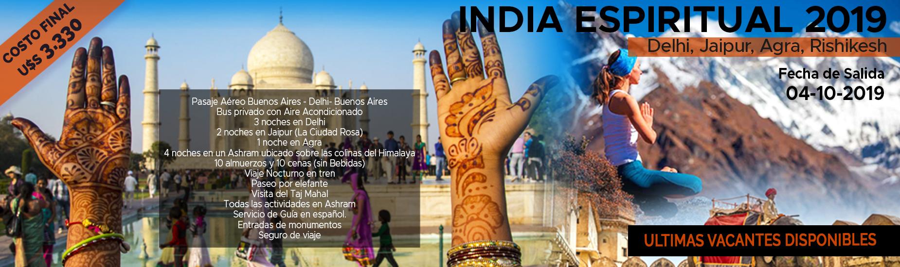 VIAJES 2019 - India Espiritual 2019 - opcion2