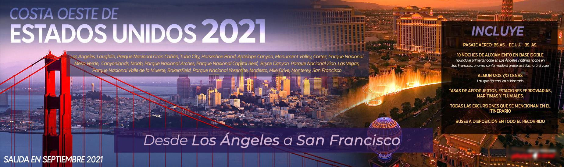 Costa Oeste de Estados Unidos 2021